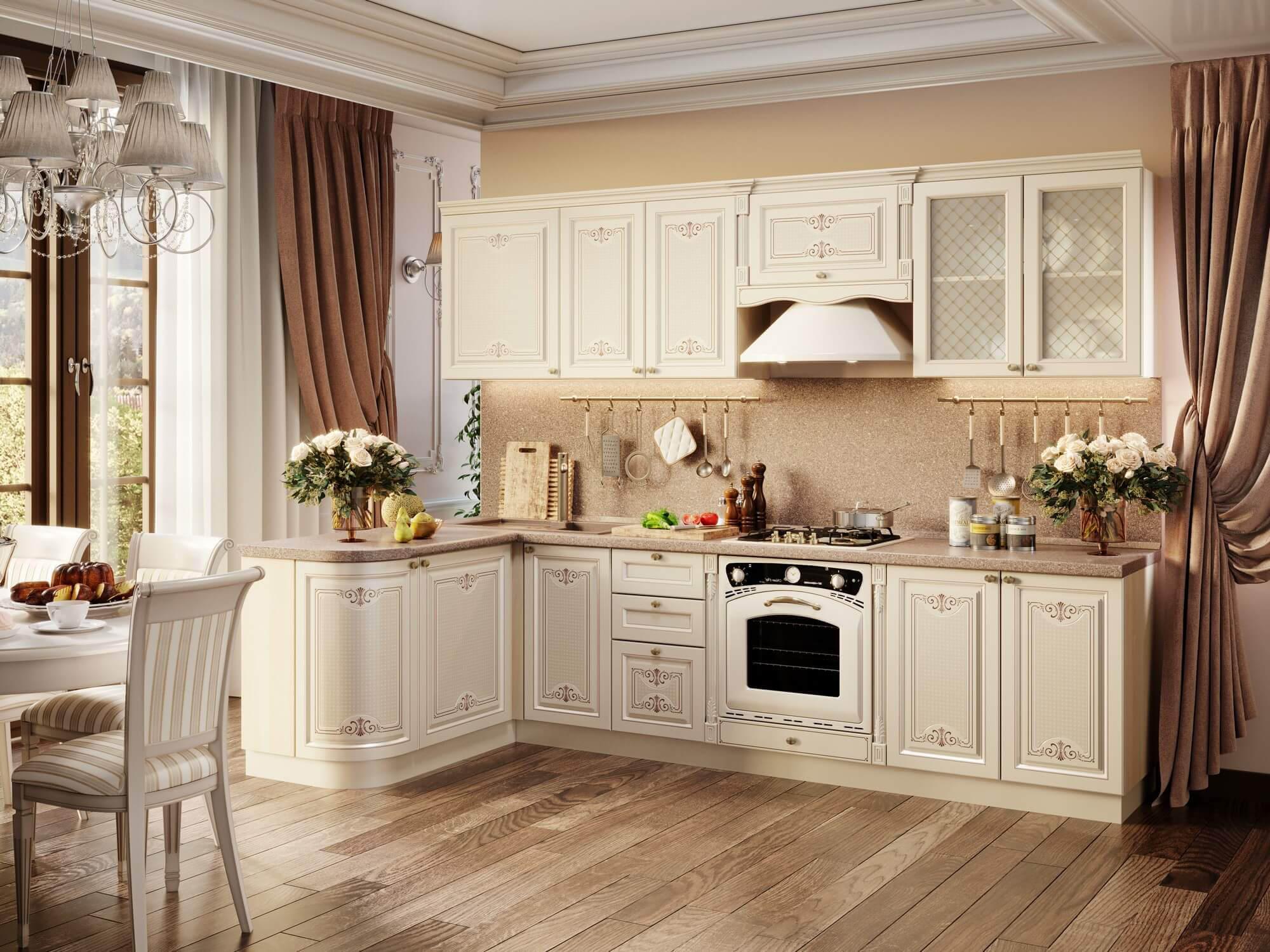 Модульная кухня Ассоль (Жемчуг/Клен Канадский) купить в Москве в интернет-магазине Любимый дом