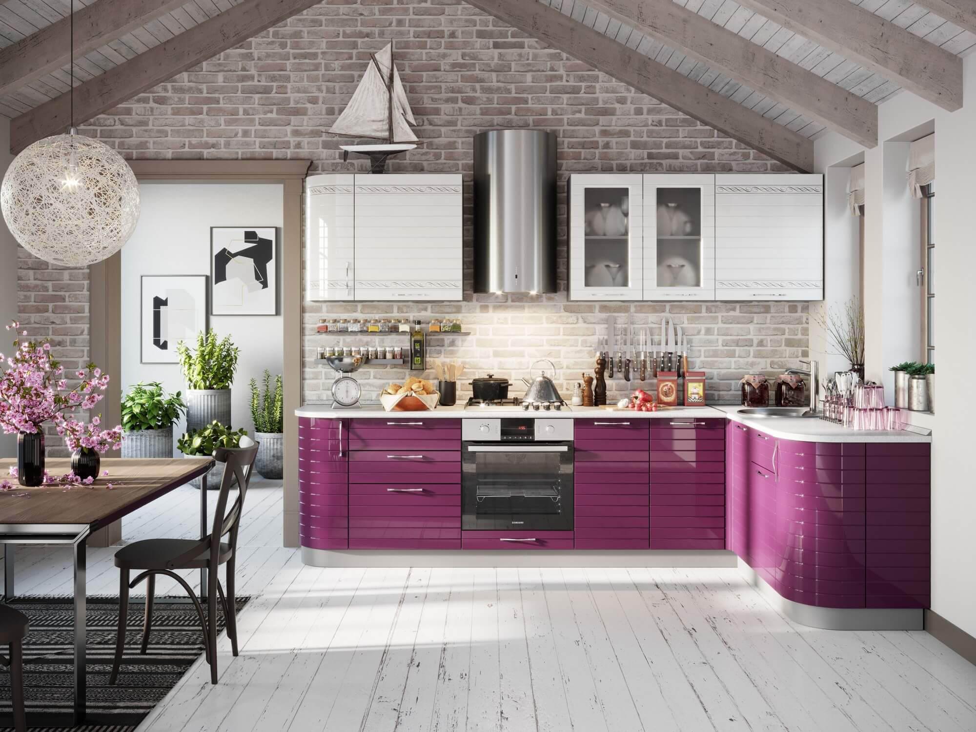 Модульная кухня Анастасия (Ежевика) купить в Москве в интернет-магазине Любимый дом